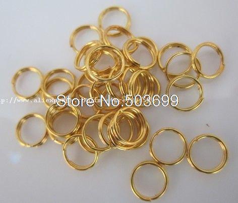 7mm gold plated metal Split rings jewelry findings