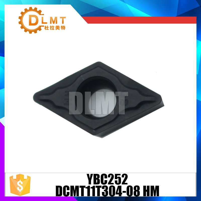 10PCS/SET DCMT11T304-08 HM YBC252 CVD turning insert Internal Turning Tools Carbide insert
