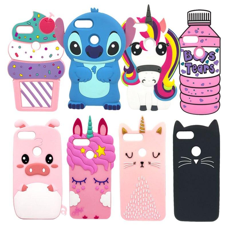 Funda de teléfono Honor 9 Lite para Huawei Honor 9 Lite, Fundas 3D, funda de silicona suave con dibujo de gato y unicornio