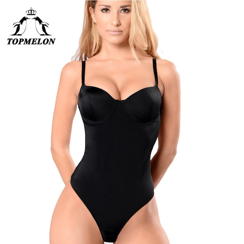 TOPMELON Backless Body Unterwäsche Frauen Körper Shaper Abnehmen Shapewear Sexy Dessous Push-Up Strap Shapers