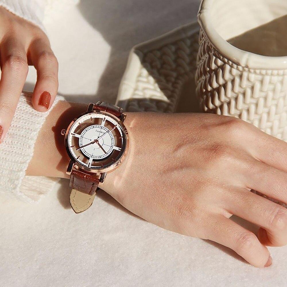 2019 Women Watches Top Brand Luxury casual Skeleton Sport Round Simple Harajuku Quartz charm Reloj Mujer