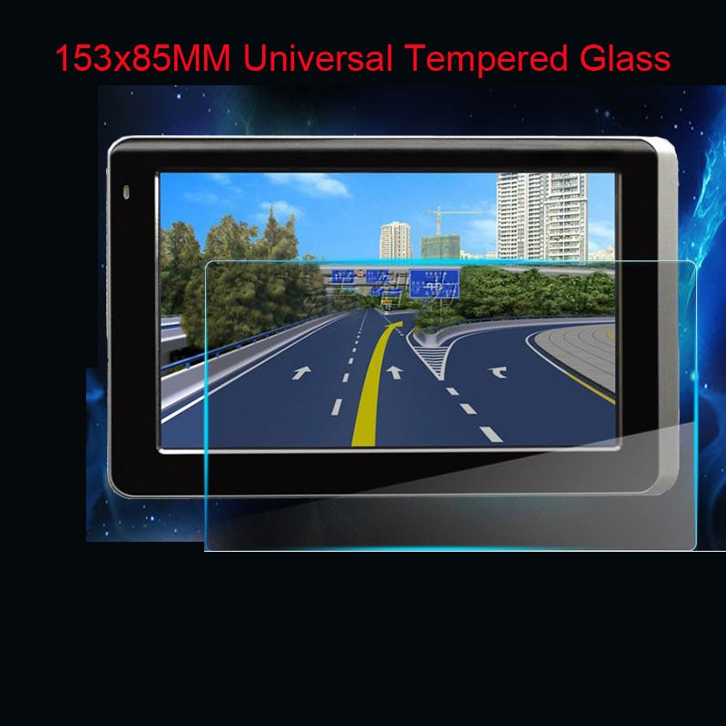 153*85mm Glass LCD Guard for 7 inch Irulu BDF WeCooL tablet Car GPS PDA MP4 Video DVD 9H Tempered Glass Screen Protector