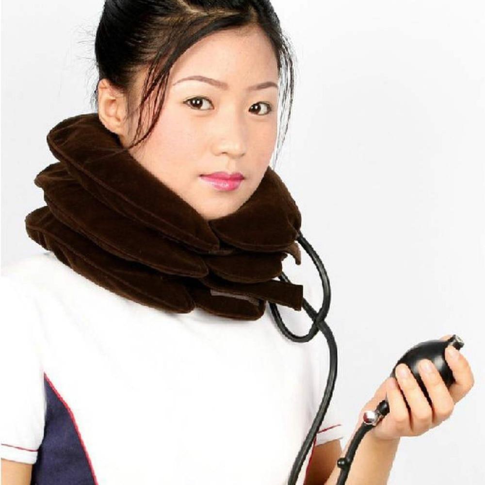 Tractor inflable de cuello Cervical Vertebra tracción Soft Brace dispositivo unidad para dolor de cabeza espalda hombro cuello masajeador de dolor