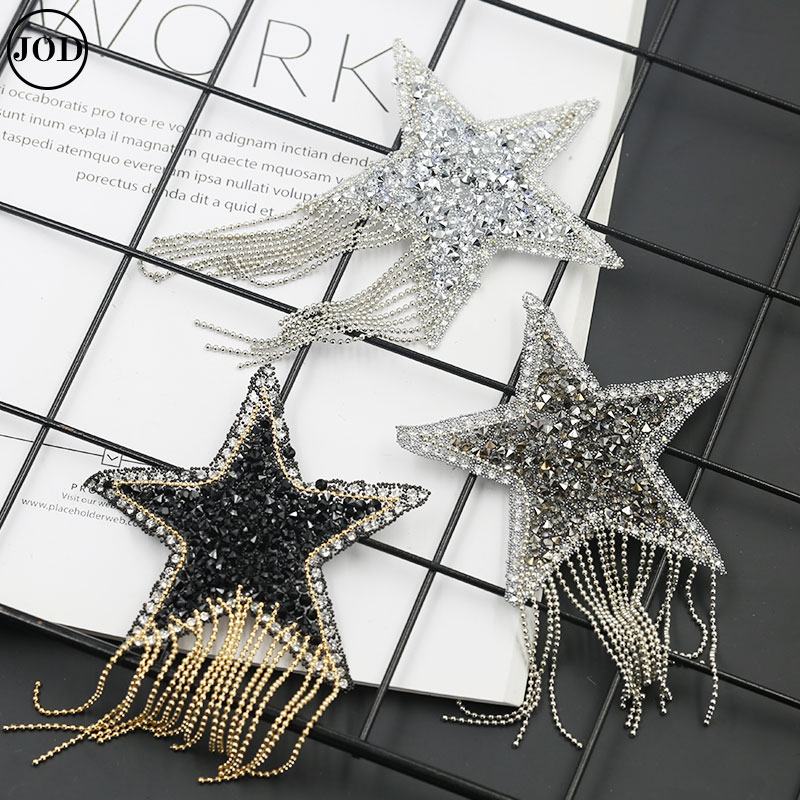 AliExpress - Tassel Fringe Sequin Star Applique Patch Rhinestone Embroidery Iron on Patches for Clothing Bags Hats Scrapbooking Stickers