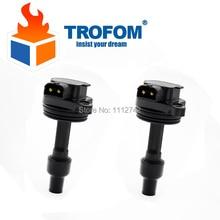 2 Pcs Auto Ignition Coil For VOLVO S40 V40 1.6 1.8 1.9 2.0 T4 L4 DODGE CARAVAN III 3.8 Turbo 12756020 12756029 UF365 5C1317