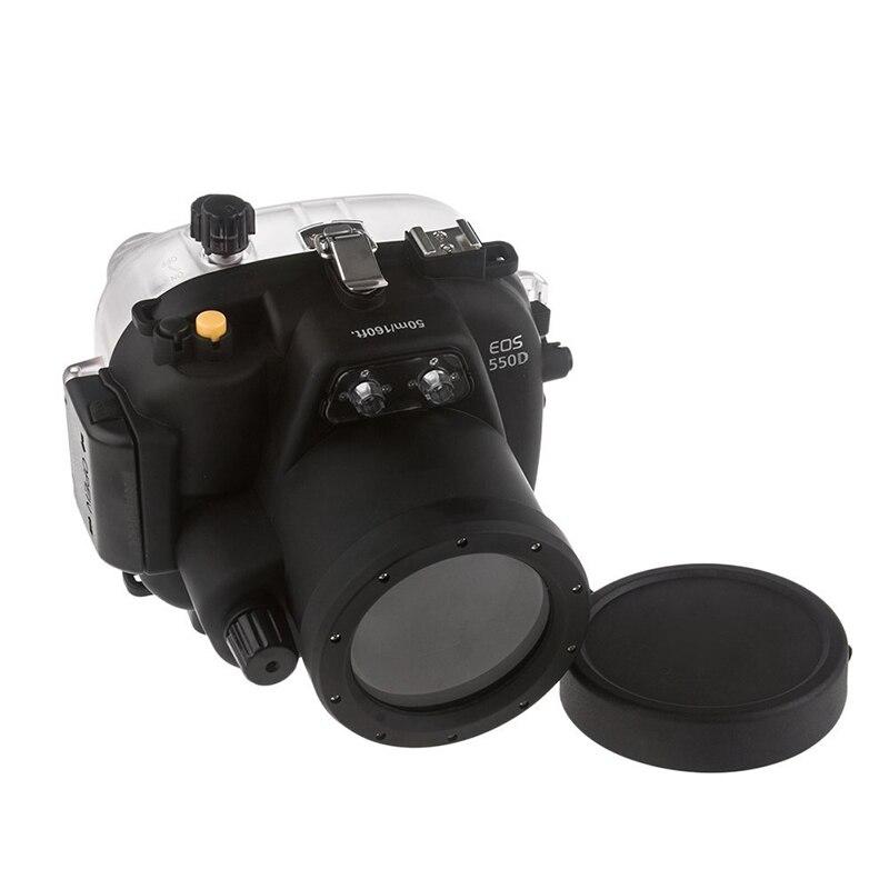 Envío Gratis DHL Meikon 40M impermeable Cámara subacuática funda carcasa bolsa para Canon 550D T2i