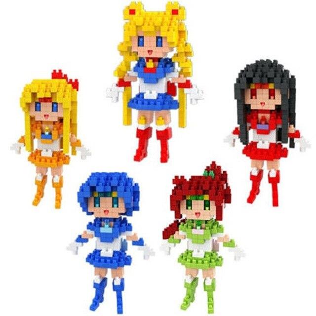 BOYU Anime Sailor Mond Kristall Figur Spielzeug DIY Mini Modell Diamant Bausteine 5 Stil Tsukino Usagi Action-figur