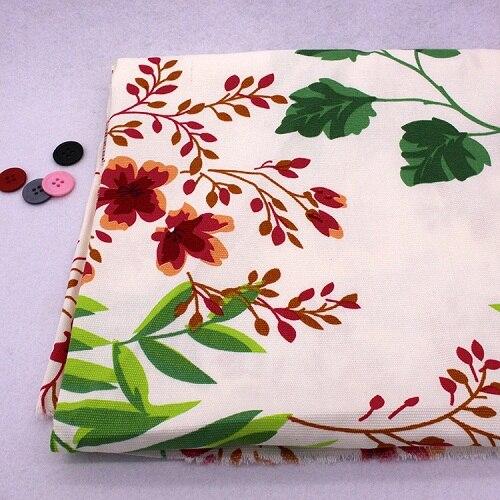 CMCYILING, tejido con estampado Floral, lona, telas gruesas, tela de retales para costura y cojines DIY, manteles, cortinas