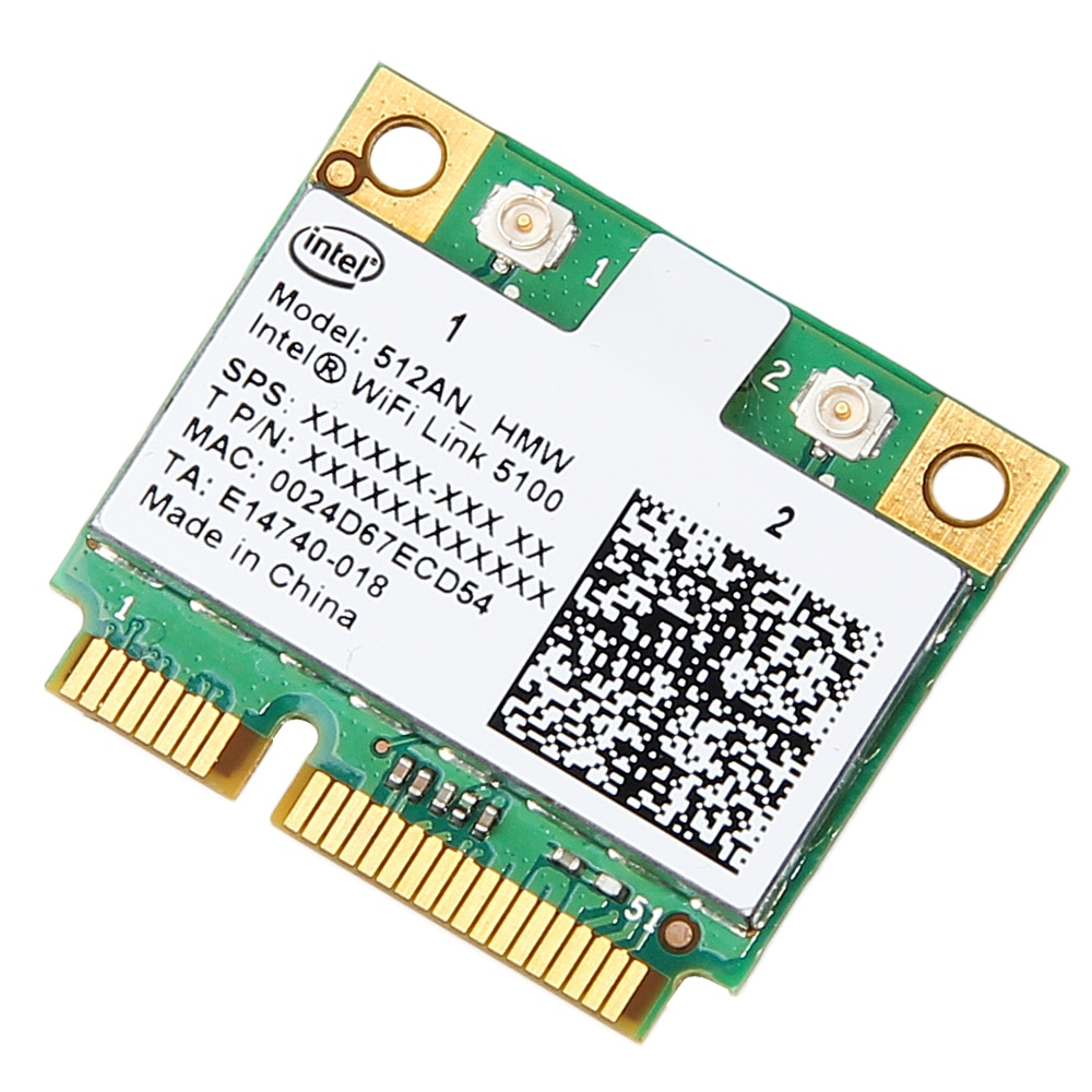 Двухдиапазонная беспроводная карта 300 Мбит/с для Intel Wifi 5100 512AN_HMW Mini PCI-e Wlan сетевая карта 2,4G/5 ГГц 802,11 a/g/n для ноутбука