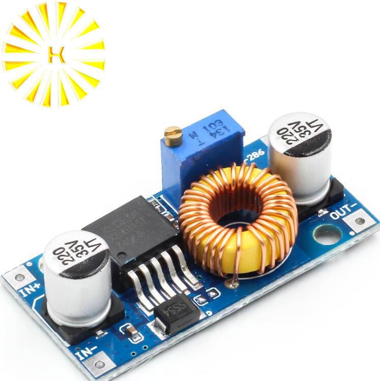 1 pcs XL4005 DSN5000 Além LM2596 DC-DC 5A Conector do módulo de fonte de alimentação ajustável step-down