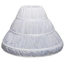 Nouveauté fleur filles robe a-ligne jupon sous-jupe Crinoline jupe Nylon enfants accessoires jupons