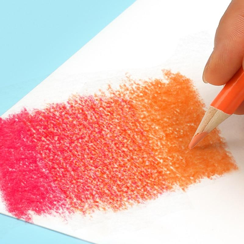 Brutfuner 48/72/120/160/180Color Professional Oil Color Pencils Wood Soft Watercolor Pencil For School Draw Sketch Art Supplies