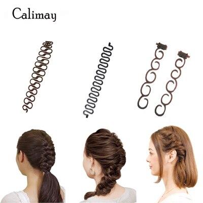 3 estilos/lote de trenza de pelo trenza trenzada trenza de pelo trenza de estilo de cabello mágica