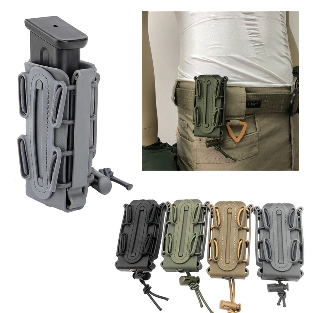 Bolsa de revista tático 9mm pistola molle mag militar concha macia mag bolsa com cinto clipe revista coldre fastmag molle bolsa