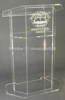 Free Shipping Beautiful Easy Cheap Acrylic Podium Pulpit Lectern podium plexiglass