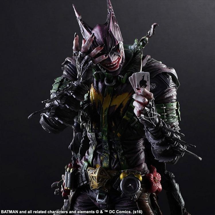 Batman Joker Play Arts Kai Rogues Gallery The Joker PVC Action Figure Anime Toy 260mm Bat Man Playarts Kai