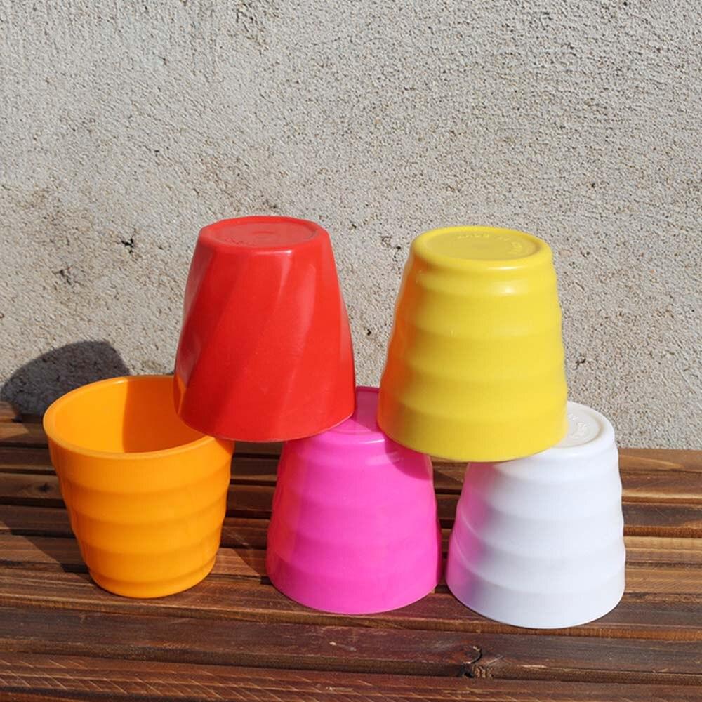 1 ud., Mini ollas de Color arcoíris, macetas pequeñas creativas de plantas suculentas, macetas de plástico