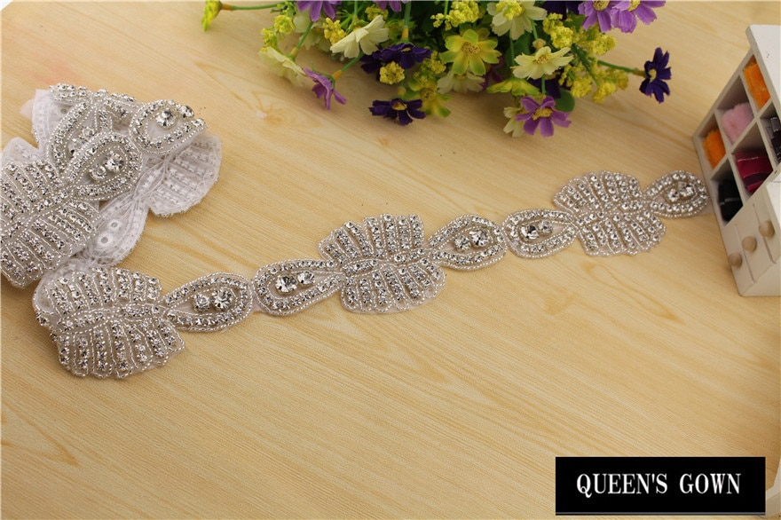 2015 Rhinest Trimming Applique For Wedding Dress rhinestone Chain Bridal Trimming  Beads strass crystal DIY crafts