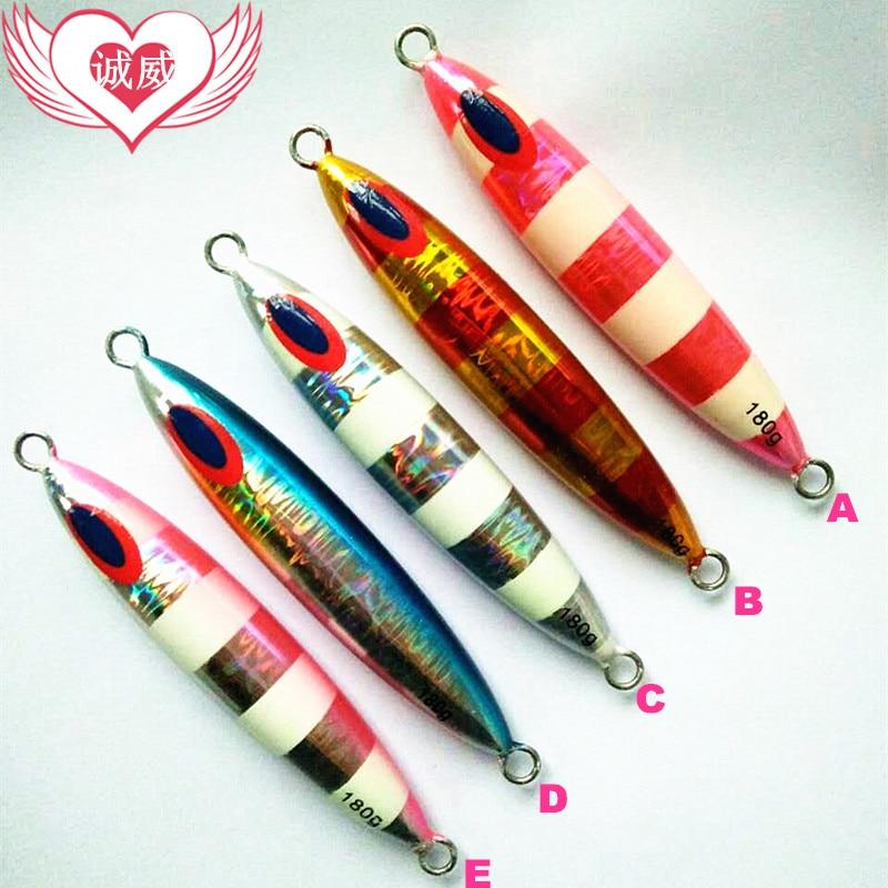Fabricantes directos a aceptar pedidos Japón fuerte anzuelo lento Señuelos de Pesca 220g o 180g