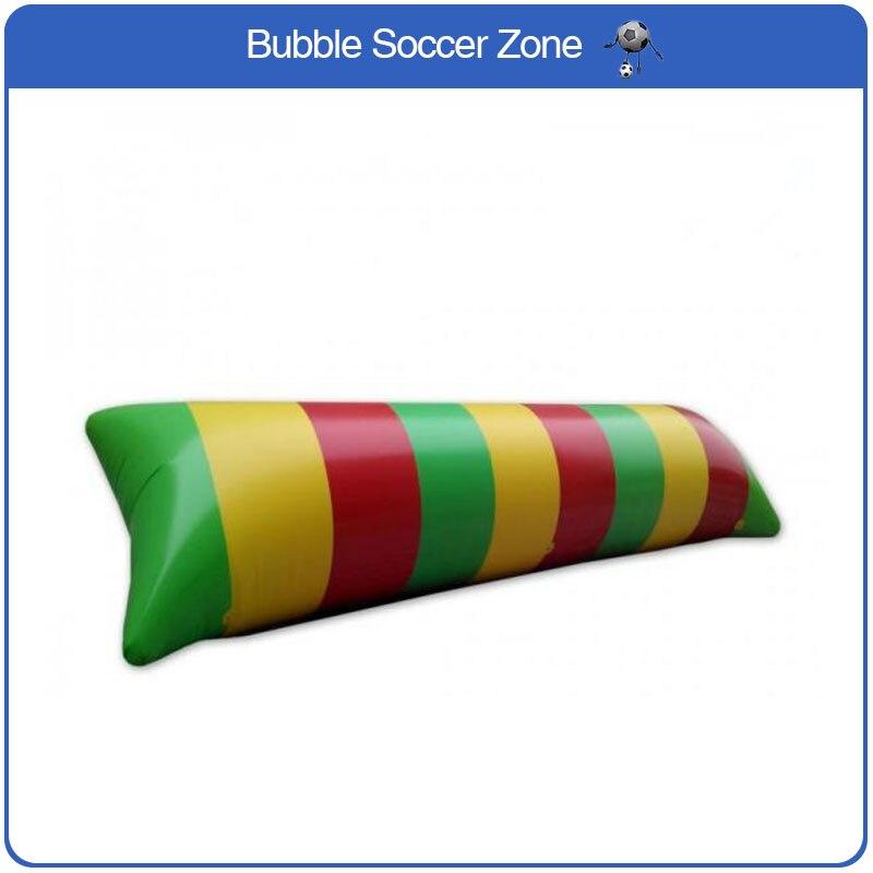 Envío Gratis 12x3m 0,9mm PVC inflable agua Blob aire y agua salto almohada agua catapulta gota de agua almohada para la venta con una bomba