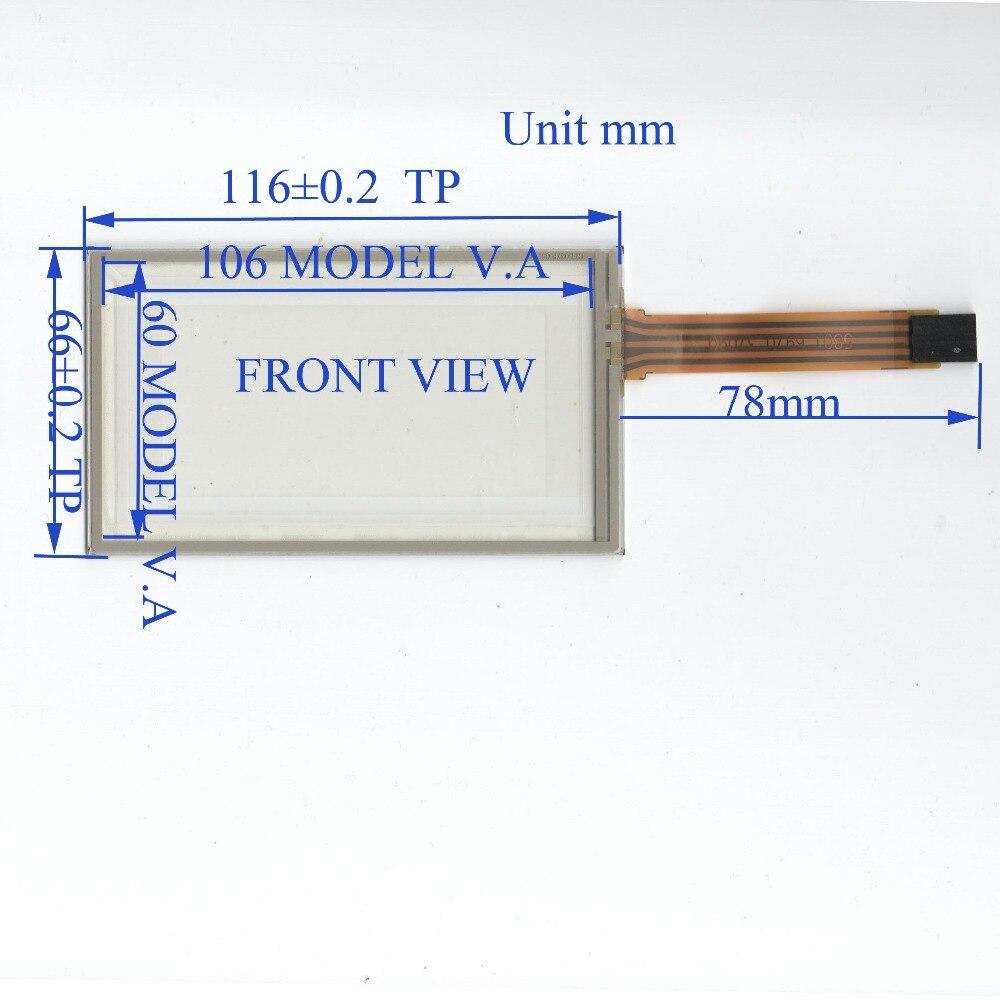 ZhiYuSun TR4-037F-09 3,7 pulgadas 4 línea panel de pantalla táctil 116mm * 66mm TouchSensor envío gratuito hecho en Taiwán wdth 66mm length116mm