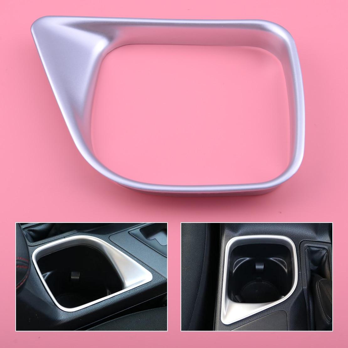 DWCX ABS cromado, soporte para taza Interior de coche, cubierta de Panel de posición embellecedora para Toyota RAV4 2016 2017 2018