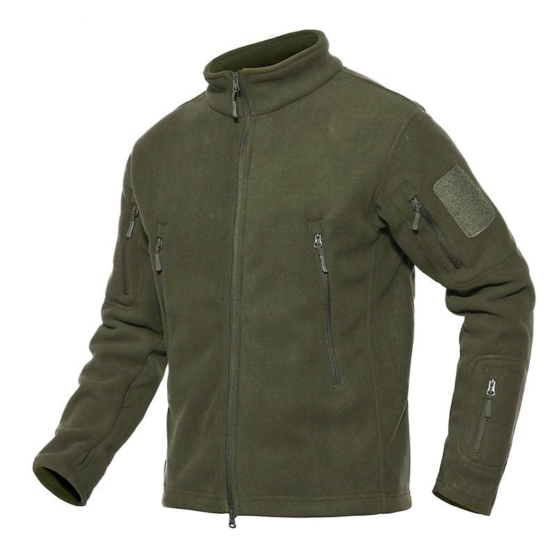 Große Größe Taktische Fleece Outdoor Warme Unterwäsche Fleece Armee Shark Haut Soft Shell Jacke Einfarbig Männer Wandern Kleidung