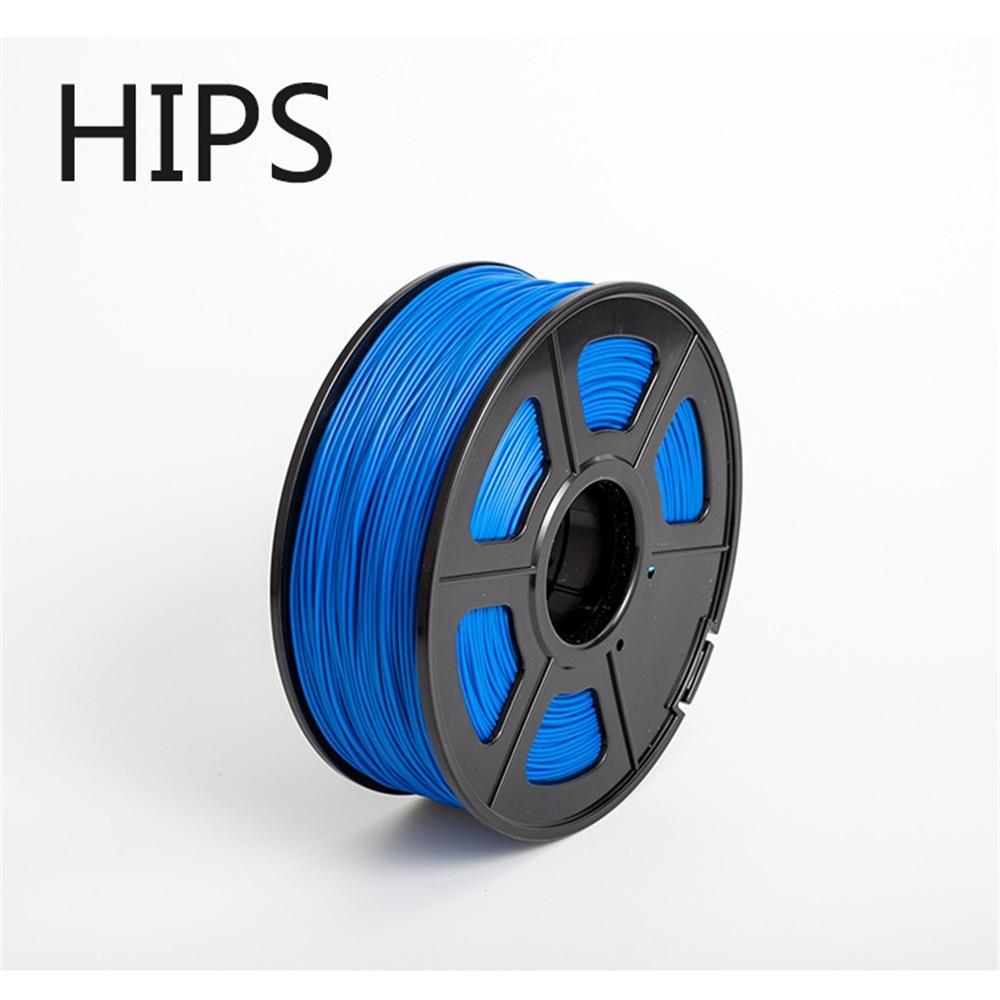 Filamento de impresora 3d 2,85mm 1 kg, filamento de plástico de alta calidad 3d HIPS 0,05 KG HIPS 3 d plástico