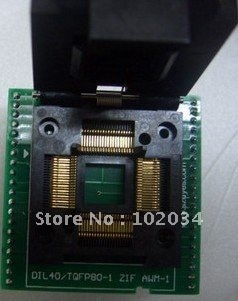 100% جديد AT89C51SND1 89C51SND1 QFP80 TQFP80 IC اختبار المقبس/مبرمج محول/حرق في موصل مقبس ل AT89C51SND1