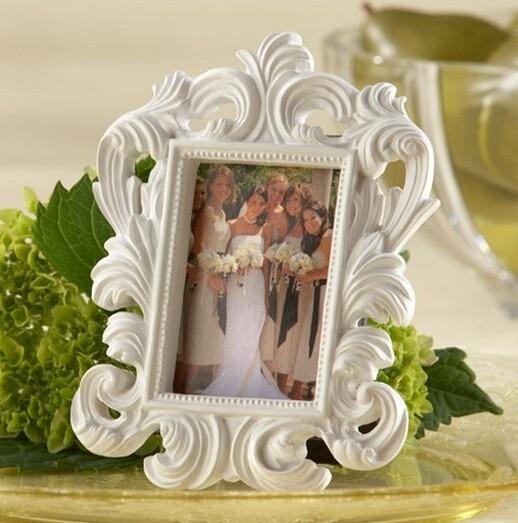 Valentines Day wholesale White or black Baroque Elegant Place Card Holder Photo Frame