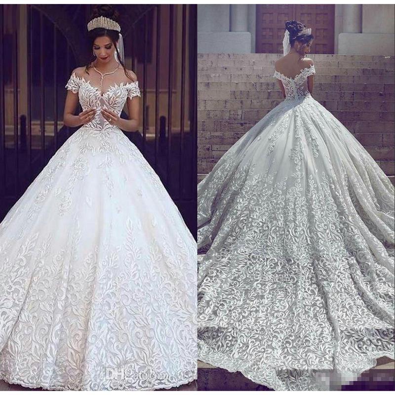Vestidos de boda elegantes de lujo 2020 vestido de novia sin hombros vestidos de boda personalizados hechos vestido de novia