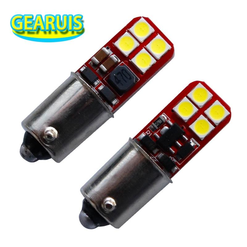 BA9S led 233 T4W led 8 SMD 3030 1W Luz de coche marcador luz de lectura interior bombillas de estacionamiento de coche luces de maletero