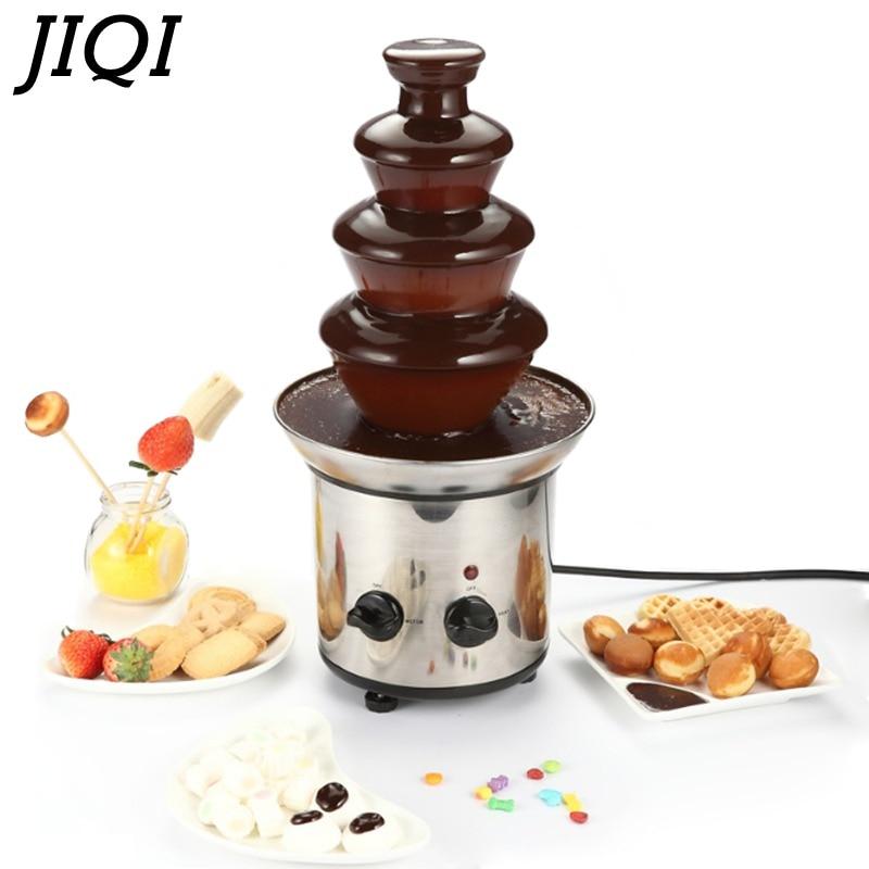 JIQI фонтанчик для шоколада, фондю для детей на свадьбу, день рождения, вечеринку, принадлежности для рождественского шоколада, водопад