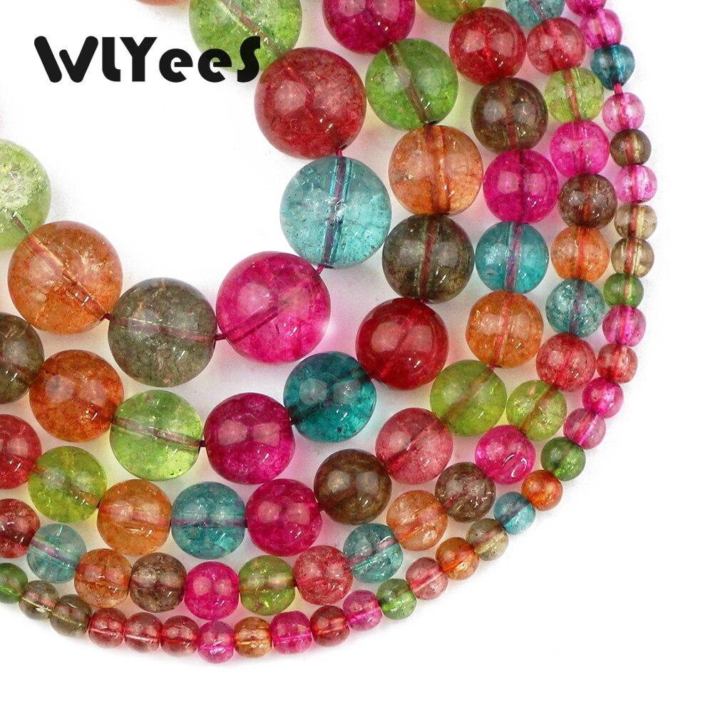 "Wlyees turmalina natural cristal doces bola redonda 4 5 6 10 12mm solto grânulo para jóias pulseira brincos pingente fazendo diy 15"""