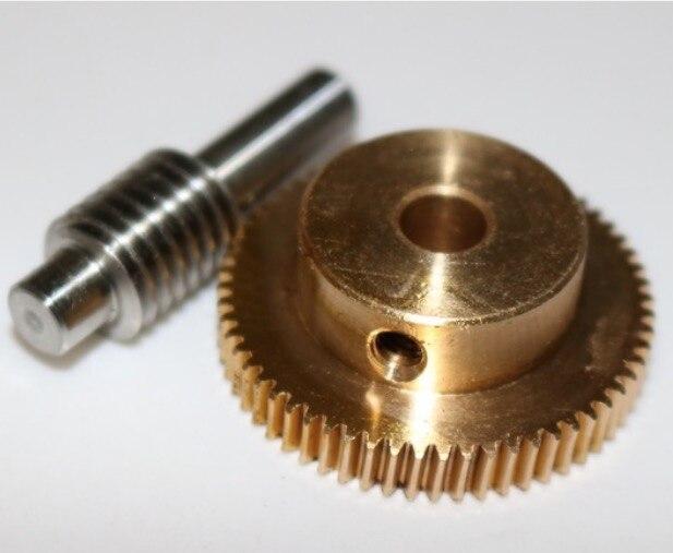 2 juegos/lote 0,5 M-40 T diámetro del engranaje 21,2mm agujero 5mm varilla L 33MM engranaje de tornillo sin fin de acero inoxidable