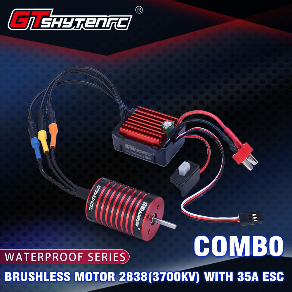 GTSKYTENRC Combo 2838 3700KV 4700KV Brushless engine w /35A ESC for Traxxas HSP Tamiya Axial 1 /16 1 /12 RC Car