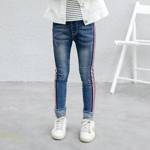 Girls Jeans 2019 Plus Size kids Girls denim Pants Slim Skinny Kids Leggings Cotton Casual Children Clothes