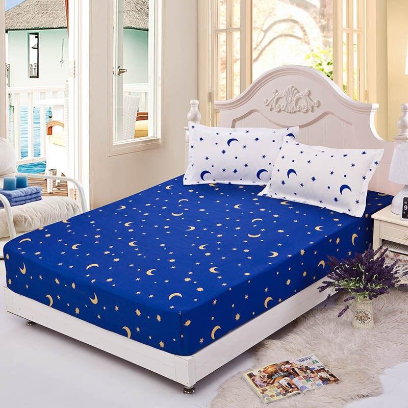 شرشف غطاء مرتبة طباعة الفراش البياضات ملاءات السرير مع مرونة السرير حامي مزدوج الملكة الملك Size45