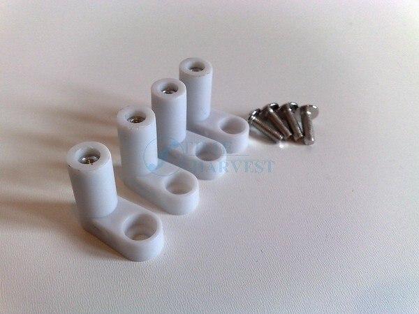 100 set PCB pieds de montage pieds en plastique avec vis jeu darcade Jamma conseil accessoires pièces darmoire pour machine opérateur de pièces