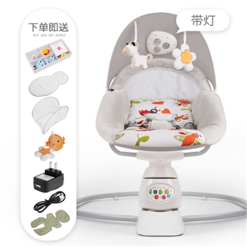 Baby Rocking Chair Baby Safe Electric Cradle Chair Soothing The Baby's Artifact Sleeps The Newborn Sleeping Rocking Cradle