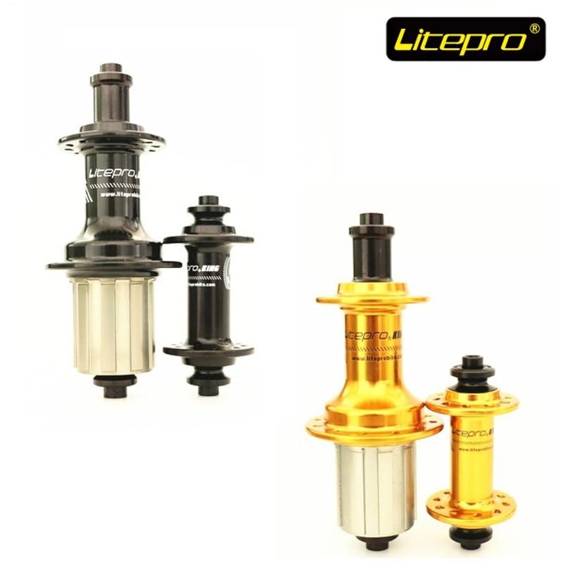 Bujes de bicicleta Litepro 74-100/130mm 4 cojinetes ultraligeros V Cubo de freno 16/20/21/24 agujero plegable accesorios de reposición de bicicleta Sp8 vp18