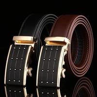 hot fashion luxury design men belt business belts automatic buckle leather belt men accessories casual waist strap belt for male