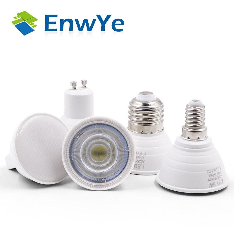 10 stücke E27 E14 MR16 gu 5,3 GU10 licht Led-lampe 220V 240V LED Lampe Scheinwerfer 48 60 80 LED 2835 SMD Lampara Spot