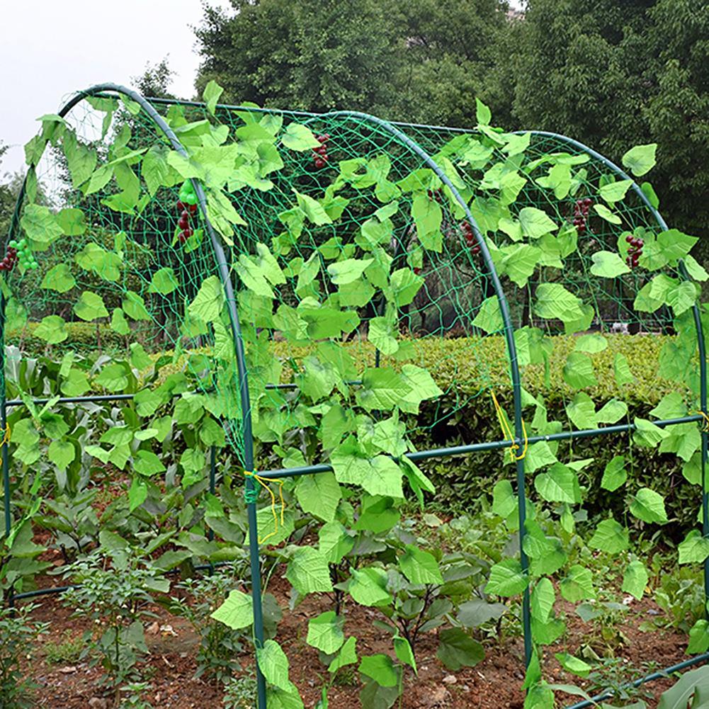 Green Wholesale Garden Fence Mesh Plant Vines Climbing Net Garden Agriculture Tools Net Bird Net Greenhouse Plastic Net Stand