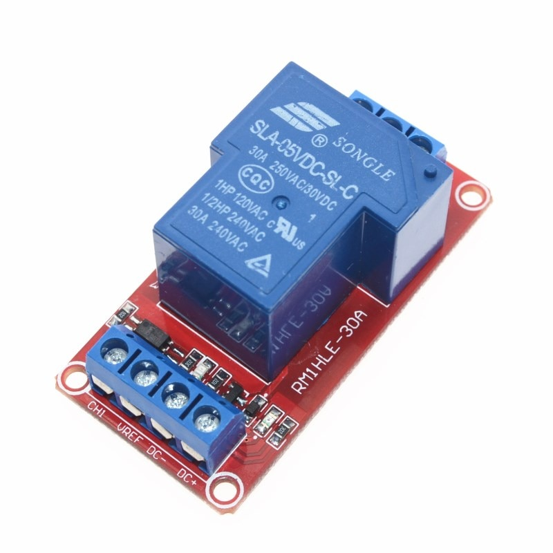 5 шт. 5 в 30A двухканальный релейный модуль высокого/низкого уровня триггера 5 в 30A 1-канальный релейный модуль
