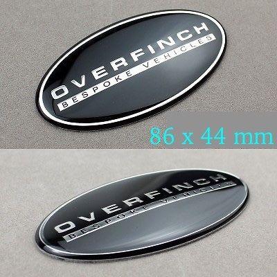 1х OVERFINCH на заказ, Эмблема для автомобилей, алюминиевая наклейка для Rover Defender Discovery Freelander Evoque, автомобильная серия