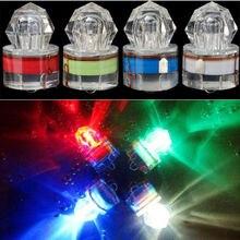 Kleurrijke ABS Mini LED Waterdichte Visaas Light LED Deep Drop Onderwater Vissen Lokken Lamp Lichten Bait Lure Squid Strobe