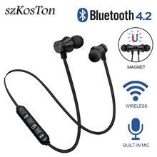 Écouteurs Bluetooth magnétiques 4.2 écouteurs Sport étanche avec micro intégré casque Bluetooth avec câble de charge