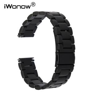 20mm Quick Release Stainless Steel Watchband for Garmin Vivomove Huawei Watch 2 Sport Bradley Timepiece Wrist Band Link Strap
