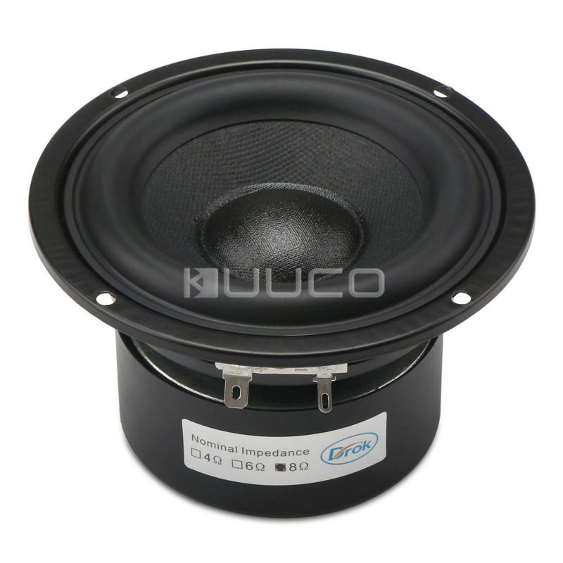 Woofer Speaker 4-inch 8 ohms Antimagnetic Loudspeaker 40W Audio Speaker Hi-Fi Subwoofer Speaker Bass Antimagnetic Speaker